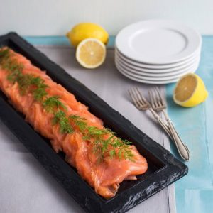 Side of Scottish Smoked Salmon  £32 (£35.55 per kg)